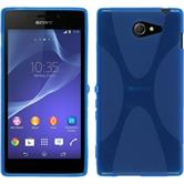 Silicone Case for Sony Xperia M2 X-Style blue