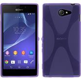 Silicone Case for Sony Xperia M2 X-Style purple