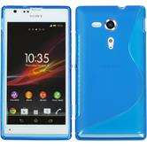 Silicone Case for Sony Xperia SP S-Style blue