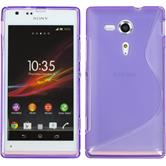 Silicone Case for Sony Xperia SP S-Style purple