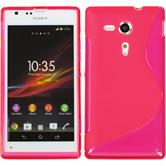 Silicone Case for Sony Xperia SP S-Style hot pink
