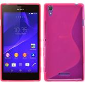 Silicone Case for Sony Xperia T3 S-Style hot pink