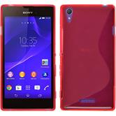 Silicone Case for Sony Xperia T3 S-Style red