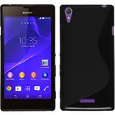 Silicone Case for Sony Xperia T3 S-Style black