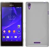 Silicone Case for Sony Xperia T3 S-Style white