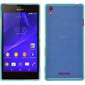 Silicone Case for Sony Xperia T3 transparent turquoise
