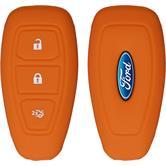 Silikon Schlüssel Hülle Ford Mondeo / Fusion 3-Tasten Fernbedienung orange Funkschlüssel