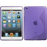 Silikon Hülle iPad Mini 3 2 1 S-Style lila + 2 Schutzfolien