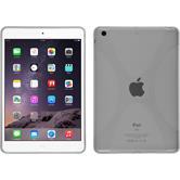 Silikon Hülle iPad Mini 3 2 1 X-Style clear + 2 Schutzfolien
