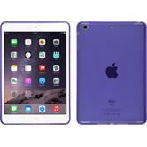 Silikon Hülle iPad Mini 3 2 1 X-Style lila + 2 Schutzfolien