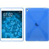 Silikon Hülle iPad Pro 9.7 X-Style blau + 2 Schutzfolien