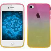 Silikon Hülle iPhone 4S Ombrè Design:01 + 2 Schutzfolien