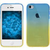 Silikon Hülle iPhone 4S Ombrè Design:02 + 2 Schutzfolien