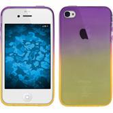 Silikon Hülle iPhone 4S Ombrè Design:05 + 2 Schutzfolien