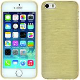 Silicone Case for Apple iPhone 5 / 5s brushed gold