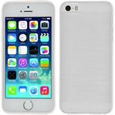Silicone Case for Apple iPhone 5 / 5s brushed white