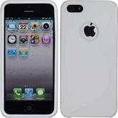 Silikonhülle für Apple iPhone 5 / 5s / SE S-Style Logo weiß
