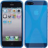 Silicone Case for Apple iPhone 5 / 5s X-Style blue