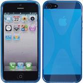 Silikonhülle für Apple iPhone 5 / 5s / SE X-Style blau
