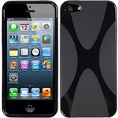 Silicone Case for Apple iPhone 5 / 5s X-Style black