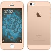 Silikonhülle für Apple iPhone 5 / 5s / SE 360° Fullbody gold
