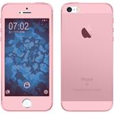 Silikon Hülle iPhone 5 / 5s / SE 360° Fullbody rosa
