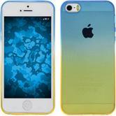 Silikon Hülle iPhone 5 / 5s / SE Ombrè Design:02 + 2 Schutzfolien