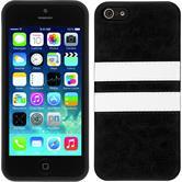 Silikon Hülle iPhone 5 / 5s / SE Stripes schwarz
