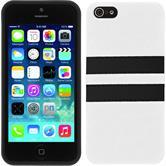 Silikonhülle für Apple iPhone 5 / 5s / SE Stripes weiß