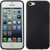 Silikon Hülle iPhone 5c matt schwarz + 2 Schutzfolien