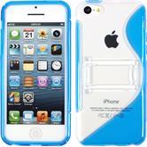 Silikonhülle für Apple iPhone 5c Aufstellbar blau