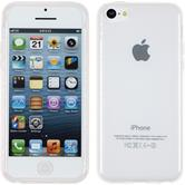 Silicone Case for Apple iPhone 5c transparent white