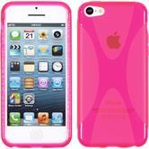 Silikonhülle für Apple iPhone 5c X-Style pink