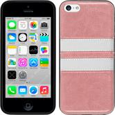 Silikon Hülle iPhone 5c Stripes rosa