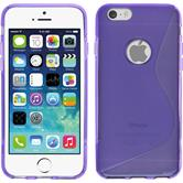 Silikon Hülle iPhone 6s / 6 S-Style lila + 2 Schutzfolien