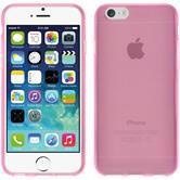 Silikon Hülle iPhone 6s / 6 transparent rosa + 2 Schutzfolien