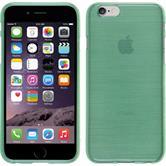 Silikon Hülle iPhone 6s / 6 brushed grün + 2 Schutzfolien