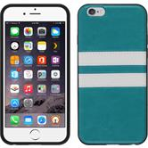 Silicone Case for Apple iPhone 6 Plus Stripes turquoise