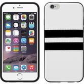 Silicone Case for Apple iPhone 6 Plus Stripes white