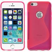 Silikon Hülle iPhone 6s / 6 S-Style pink + 2 Schutzfolien