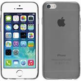 Silikon Hülle iPhone 6s / 6 Slimcase grau + 2 Schutzfolien