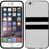 Silicone Case for Apple iPhone 6 Stripes white
