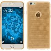 Silikon Hülle iPhone 6 Plus / 6s Plus Iced gold + 2 Schutzfolien