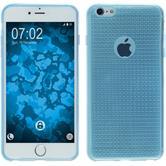 Silikon Hülle iPhone 6 Plus / 6s Plus Iced hellblau + 2 Schutzfolien