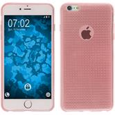 Silikon Hülle iPhone 6 Plus / 6s Plus Iced rosa + 2 Schutzfolien