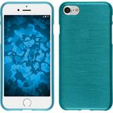 Silikon Hülle iPhone 8 brushed blau
