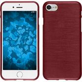 Silicone Case iPhone 8 brushed red