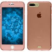 Silikon Hülle iPhone 8 Plus 360° Fullbody rosa
