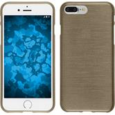 Silikon Hülle iPhone 8 Plus brushed gold + 2 Schutzfolien