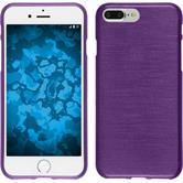 Silicone Case iPhone 8 Plus brushed purple + protective foils